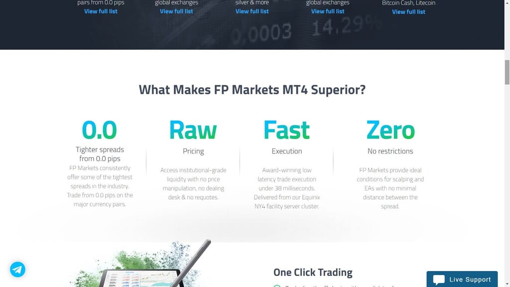 fp markets mt4 features webpage