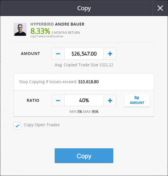 etoro copy trading trader connection form