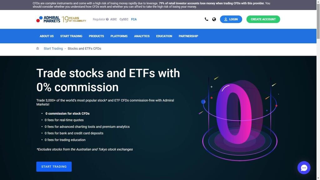 admiral markets commissions webpage