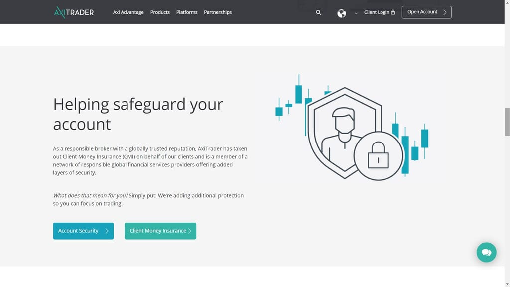 axitrader safety features
