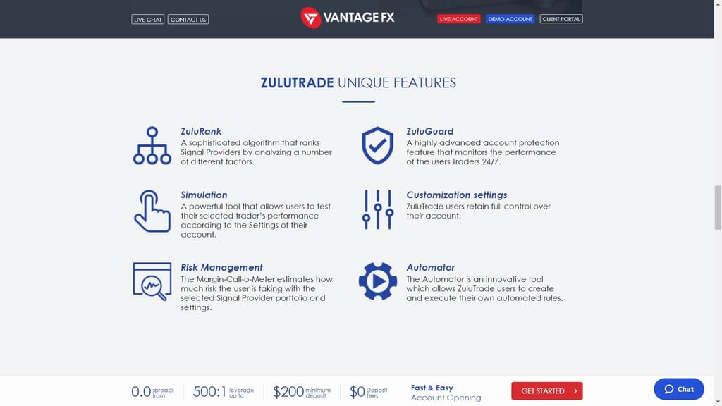 vantage fx zulutrade copy trading features