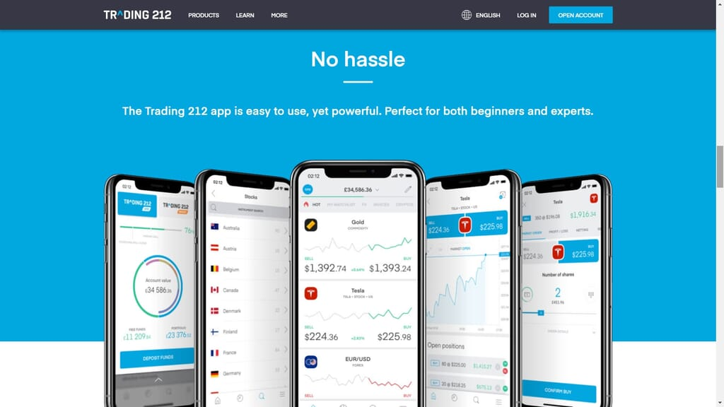 trading 212 mobile app features