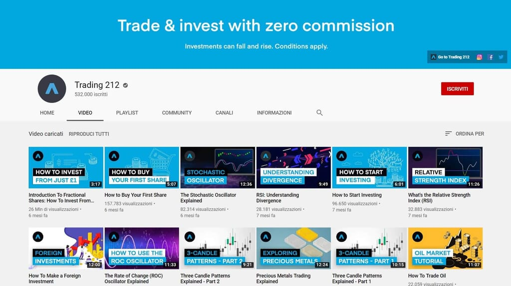 trading 212 youtube channel