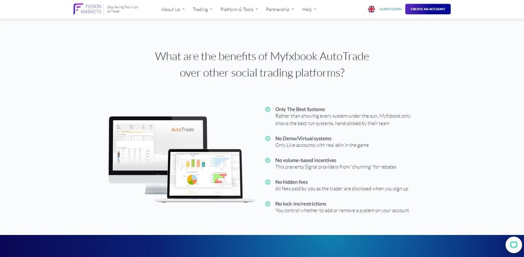 fusion markets myfxbook webpage