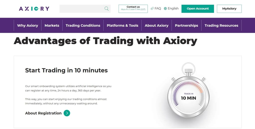 The advantages of trading with Axiory